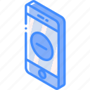 device, function, iso, isometric, remove, smartphone icon