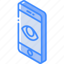 device, function, iso, isometric, show, smartphone icon