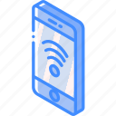 device, fi, function, iso, isometric, smartphone, wi icon