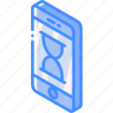 device, function, iso, isometric, loading, phone, smartphone icon