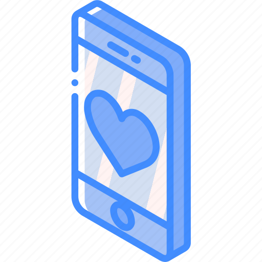 device, favourite, function, iso, isometric, smartphone icon