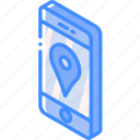 device, function, iso, isometric, navigation, smartphone icon