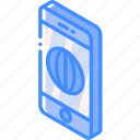device, function, internet, iso, isometric, smartphone icon