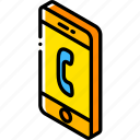 call, device, function, iso, isometric, smartphone icon