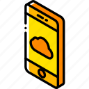cloud, device, function, iso, isometric, smartphone icon