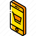 device, function, iso, isometric, smartphone, trolley icon
