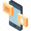conversation, files, function, functions, iso, mobile, smart phone icon