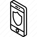 function, isometric, smartphone, sheild, iso, device