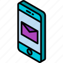 device, function, iso, isometric, message, smartphone