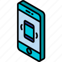 device, function, iso, isometric, phone, smartphone, vibrate icon