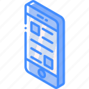 device, document, function, iso, isometric, smartphone icon