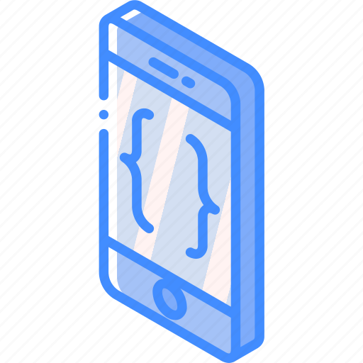 development, device, function, iso, isometric, smartphone icon