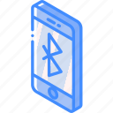bluetooth, device, function, iso, isometric, smartphone icon