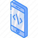 device, devlopment, function, iso, isometric, smartphone icon