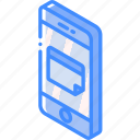 calendar, device, function, iso, isometric, smartphone icon