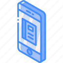 contacts, device, function, iso, isometric, smartphone icon