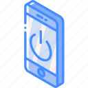 device, function, iso, isometric, smartphone, standby icon