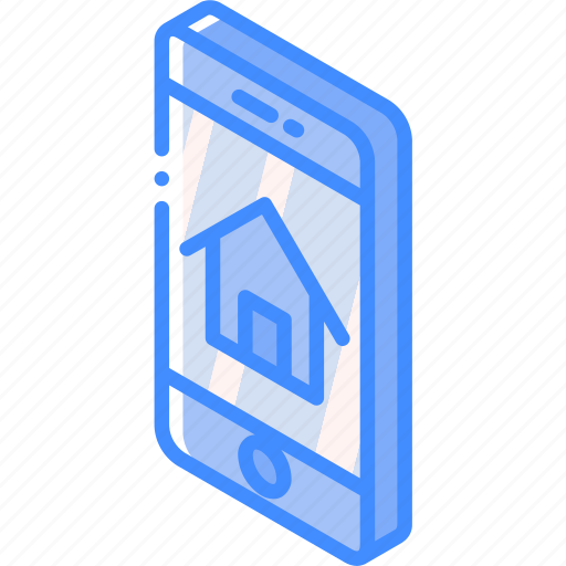 device, function, home, iso, isometric, smartphone icon