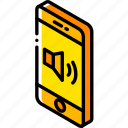 device, function, iso, isometric, smartphone, volume icon