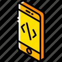 device, devlopment, function, iso, isometric, smartphone icon
