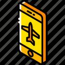 aeroplane, device, function, iso, isometric, mode, smartphone