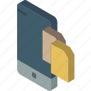 function, isometric, smartphone, transfer, iso, file, device