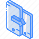 device, function, iso, isometric, phones, smartphone, swap icon
