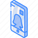 device, function, iso, isometric, profile, smartphone, user icon