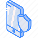device, function, iso, isometric, security, smartphone icon