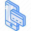 device, function, iso, isometric, smartphone, transaction icon