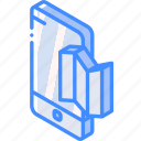 device, function, iso, isometric, map, smartphone icon