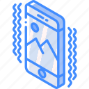 device, function, iso, isometric, ringing, smartphone icon