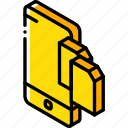 device, file, function, iso, isometric, smartphone, transfer icon