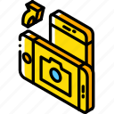 function, isometric, rotate, camera, iso, device, smartphone icon