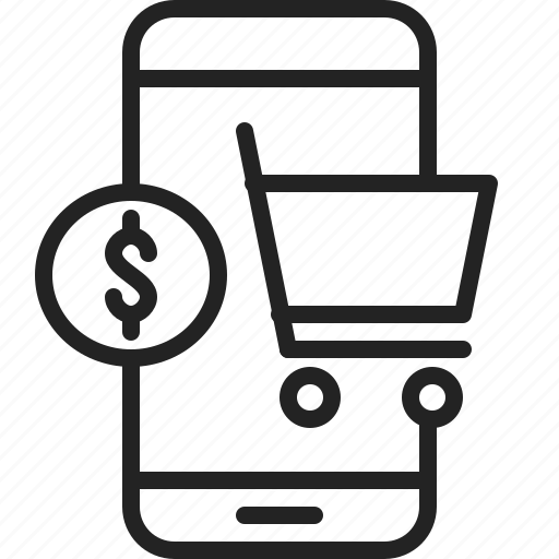 app, cart, mobile, money, shop, shopping, store icon