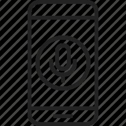 app, microphone, mobile, phone, record, speak, voice icon