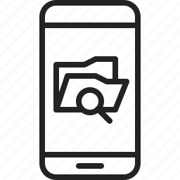 app, explorer, file, folder, mobile, phone, search icon
