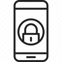 app, block, lock, lockpad, mobile, phone, screen icon