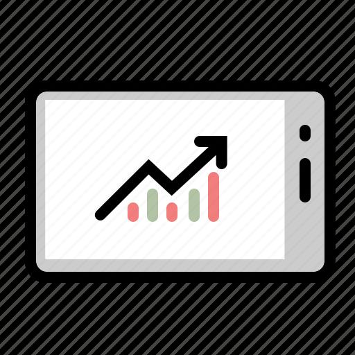 analytics, chart, graph, marketing, mobile, statistics, trading icon