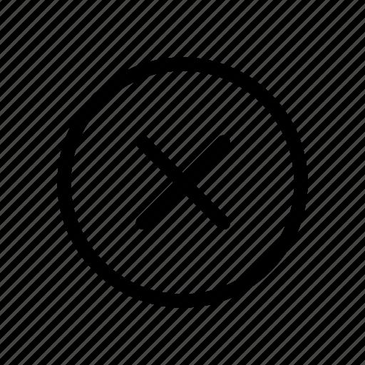 abort, cancel, cease, change, halt, stop, x icon