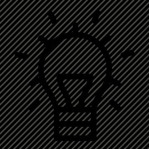 bright, bulb, idea, light bulb, power, utility icon