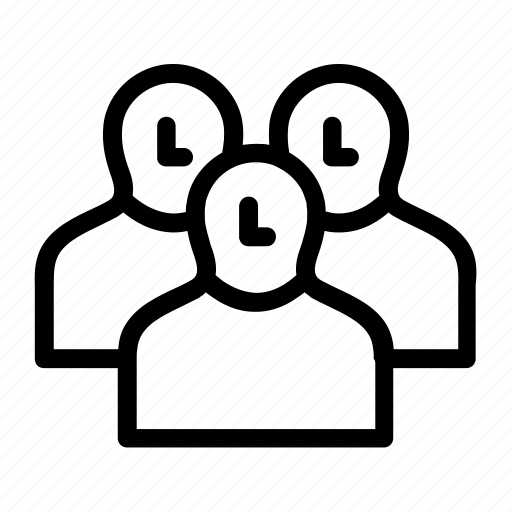 associates, businesses, family, friends, group contact, groupwork icon