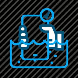 phone, smartphone, waterproof, watertight icon