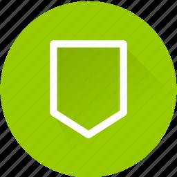 arrow down, bookmark icon
