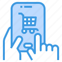 cart, mobile, payment, shopping