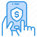 mobile, payment, security, shield, smartphone