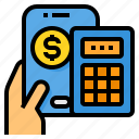 calculator, financial, mobile, money, payment