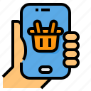 basket, mobile, payment, shopping, smartphone
