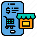 cart, mobile, online, payment, shopping