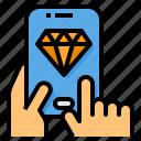 diamond, method, mobile, payment, premium